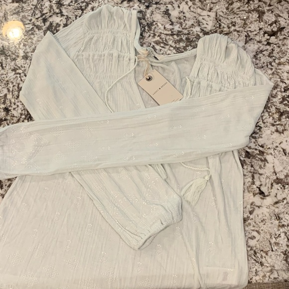 Lucky Brand Tops - LUCKY BRAND 🍀 NWT mint peasant blouse top LS BOHO